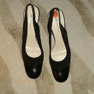 Anne Klein slingback black shoes
